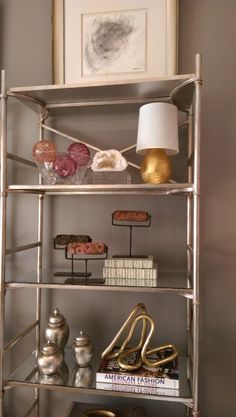 Home for the Holidays Designer Showhouse lady's retreat bookshelves - LightsOnline Blog