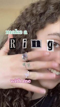 Diy Jewelry Unique, Handmade Wire Jewelry, Diy Crafts Jewelry, Ring Crafts, Handmade Rings, Etsy Jewelry, Wire Jewelry Rings, Wire Jewelry Designs, Wire Wrapped Jewelry