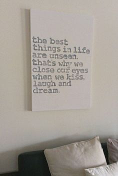Word Art Typography Painted Canvas Sign  Large by BornToBeAUnicorn, $119.00