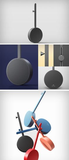"""Jimin Lee has designed the iO Radio in the hope of bringing the romance and novel design back into audio electronics. As an abbreviation of Input & Output, this radio has intuitive usability incorporated with alphabet """"I"""" and """"O"""" shape of input part (volume control, channel select) and the output part (speaker)."""