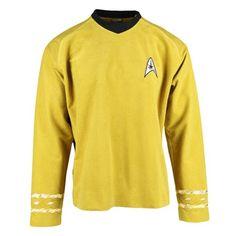Star Trek TOS 50th Anniversary Command Gold Velour Tunic - Anovos - Star Trek - Prop Replicas at Entertainment Earth