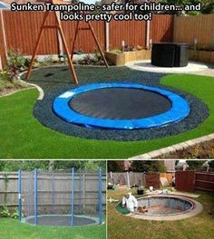 How To: Make a Sunken Trampoline (It's safer for children and looks pretty cool too)