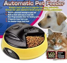 Four Days Programmable LCD Clock Pet Feeder Automatic Pet Feeder Dog Cat ...