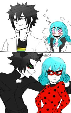 That's really good. I love miraculous lady bug and I love Fairytail that's means THIS IS DAMN REALLY GOOD PIC!!!