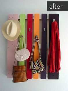 DIY Pallet Coat rack!