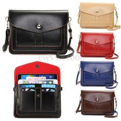 Women Ladies Cell Phone Pouch Cross Body Shoulder Bag Purse Wallet Card Holder #UnbrandedGeneric #MessengerCrossBody