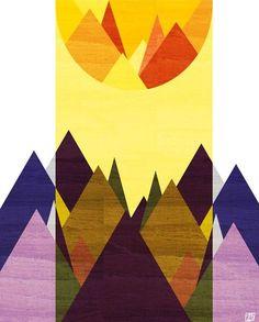 Morning, Mountain, 8X10 Art Print. $20,00, via Etsy.