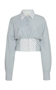 This Off-White c/o Virgil Abloh long sleeve corset shirt features a fitted waistline with a lace-up back. Stage Outfits, Fashion Outfits, Womens Fashion, Denim Dye, Corset Shirt, Work Wardrobe, Business Outfits, Daily Fashion, Korean Fashion