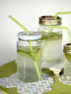 Make Your Own Coasters and Mason Jar Sippy Cups