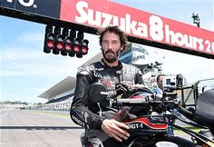 Keanu Reeves is seen during the opening ceremony of the Suzuka 8 Hours at the Suzuka Circuit on July 26, 2015 in Suzuka, Japan.