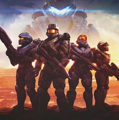 Blue team and Locke in the backdrop