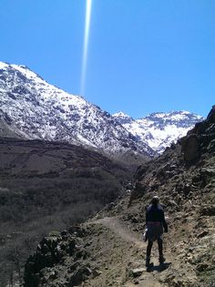 Trekking near Imlil in Morocco