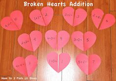 Valentine's Day Fun: Heart Math for Preschool & Kindergarten from Mom to 2 Posh Lil Divas