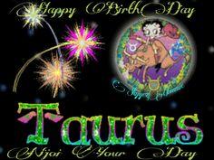 Happy BirthDay Taurus, Betty Boop Taurus Betty Boop Birthday, Happy Birthday, Taurus, Movie Posters, Movies, Art, Happy Brithday, Art Background, Films