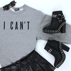 Nasty Gal x Private Party I Can't Sweatshirt #graphic