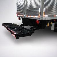 Aplicação: em veículos com P.T.B. acima de 11.000 kg. Mesa: com 2.200/2.400 mm de largura e 1.600/1.800 mm de comprimento com desdobramento manual-mecânico.