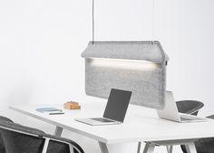 """De Vorm's Workspace Divider lamp """"shields users"""""""