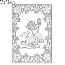 1Pcs Metal Lotus Cutting Dies Stencils Template Embossing for Scrapbooking Album Photo Paper Cards Diary DIY Art Painting Tool(China (Mainland))