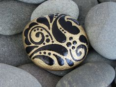 Golden Talisman /Painted Rock / Sandi Pike by LoveFromCapeCod, $25.00