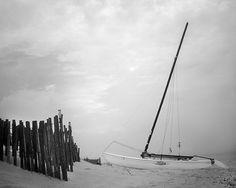 Nautical Photography Sailboat Boat Beach Ocean by SherriConley