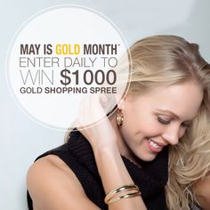 You have daily opportunities to win this! Don't miss out! #MayIsGoldMonth #Contest #ShoppingSpree #KaratGold