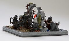 The Lord of the Rings: Osgiliath by Nagol of Fortfield - LOTR is the subject of this week's featured MOC. In a scene from The Lord of the Rings: The Return of the King, MOC creator Nagol of Fortfield depicts a Morgul host attack on the western part of Osgiliath, which was still controlled by Gondor forces.  #LEGO #Minifigure #BrickWarriors #toys #MOC #LEGOMOC #LordoftheRings #LOTR #LOR #ReturnoftheKing #Osgiliath #LEGOAccessories #MinifigureAccessories