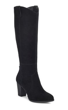 """Elevating the everyday with a 3"""" leather wrapped heel, this Western-inspired stunner is deceivingly comfortable, crafted with a soft, suede upper, stretchy gore panel, and cushy Ortholite foam insoles. Get ready for compliments. Lots of compliments. 