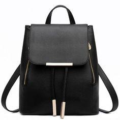 $25.44 (Buy here: https://alitems.com/g/1e8d114494ebda23ff8b16525dc3e8/?i=5&ulp=https%3A%2F%2Fwww.aliexpress.com%2Fitem%2FFashion-Design-Women-s-Leather-Backpacks-School-Bags-Rucksack-for-Teenager-Girls-Ladies-Shoulder-Bags-Travel%2F32647818271.html ) 2016 Fashion Luxury Women Leather Backpack Brand Designer Schoolbag for Teenager Girls Preppy Style Backpack Mochia Feminina for just $25.44
