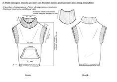 knit ring neckline, tunic pull jersey
