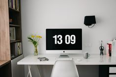 Your home office is a great space for you to focus on your work without distractions. So how about getting started with your own home office makeover? Office Setup, Office Workspace, Desk Setup, Home Office Design, Home Office Decor, Home Decor, Office Furniture, Furniture Ideas, Table Bureau Ikea