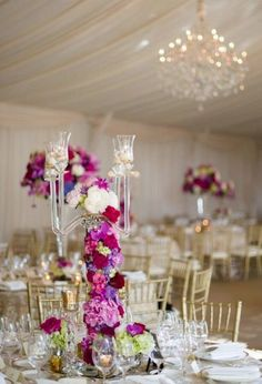 Pink wedding reception idea; photo: Michael Will Photography