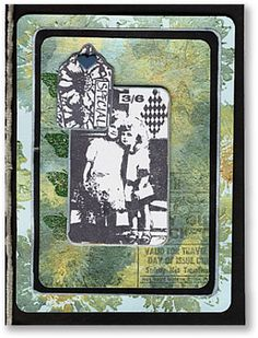 Card made with rubber stamps