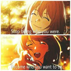 Anime : your lie in April Sad Anime Quotes, Manga Quotes, Hikaru Nara, April Quotes, Rainbow Words, Your Lie In April, Everyday Quotes, Inspirational Phrases, Manga Love