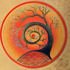 mandala_albury by a student @ mandala_albury magic Tree Of Life Art, Tree Art, Afrique Art, Whimsical Art, Fractal Art, Rock Art, Painting & Drawing, Rock Painting, Painted Rocks