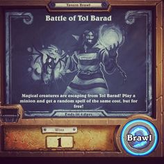 Tonight's Tavern Brawl in Tol Barad #hearthstone #warcraftwednesday