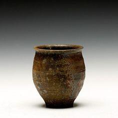 "troybungartstudios: ""Jomon yunomi by Samuel Johnson https://www.schallergallery.com/exhibition/458/Dexterous-Four-Minnesota-Potters """