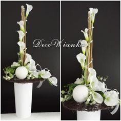 Funeral Floral Arrangements, Modern Flower Arrangements, Orchid Arrangements, Artificial Flower Arrangements, Artificial Flowers, My Flower, Flower Art, Funeral Flowers, Arte Floral