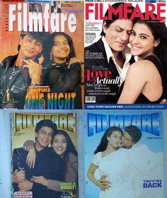 Shahrukh Khan and Kajol Filmfare covers. I Movie, Movie Stars, My Name Is Khan, Shahrukh Khan And Kajol, Best Hero, Nov 2, King Of Hearts, Indian Movies, Bollywood Actors