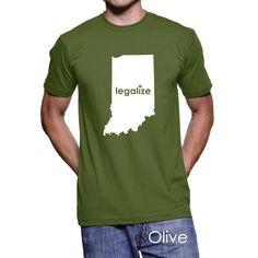 Indiana Legalize Pot Men's T-Shirt