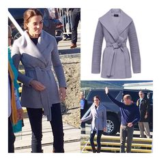 Cosy Kate! Duchess of Cambridge in warm wool wrap coat by Canadian brand @sentaler for visit in Carcross today//  @repost @sentaler + Emily Andrews/Twitter, Sep/28/2016