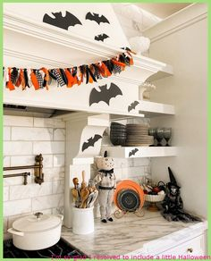 I'm so happy I made a decision to increase a small Halloween decor to the kitchen this yr. I definitely beloved working with the black, white, and orange hues in my kitchen area. I stopped accomplishing Halloween decor when my young children received older but I truly relished decorating it this yr. Guess I'll have […]   #DecoratingIdeasForHalloween, #DiyDecorationsHalloween, #HalloweenDecorationsFall, #PumkinsHalloween, #ThemeHalloween
