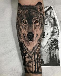 Wolf tattoo ideas are a representation of the need to trust our hearts & minds. Here is a collection of some of the best wolf tattoos which are really cool. Animal Sleeve Tattoo, Lion Tattoo Sleeves, Animal Tattoos, Sleeve Tattoos, Wolf Tattoo Design, Wolf Tattoos Men, Tattoos For Guys, Small Wolf Tattoo, Tattoo Wolf