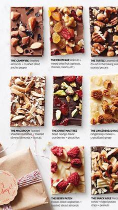 Chocolate Bonbon, How To Make Chocolate, Chocolate Desserts, Chocolate Gifts, Chocolate Chips, Homemade Chocolate Bark, Cake Chocolate, Chocolate Covered, Christmas Food Gifts