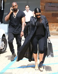 Retail therapy: The couple were seen shopping in Malibu, California on Sunday