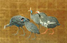 Antoinette von Grone: Guinea Fowl, 21st C.