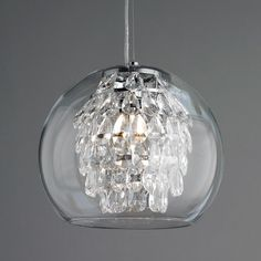 Glass pendant which matches chandeliers