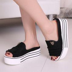 Cool Summer Sandals Womens Shoes High Platform Slippers  Beach Shoes Bath Shoes Glitter  T941Z