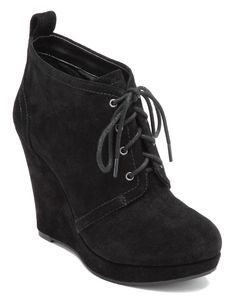 Shoes | Wedges | Catcher Suede Wedge Booties | Lord and Taylor