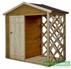 Znalezione obrazy dla zapytania domek narzedziowy z drewutnia