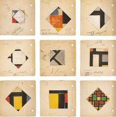 Theo van Doesburg, étude pour contre composition 1924-27